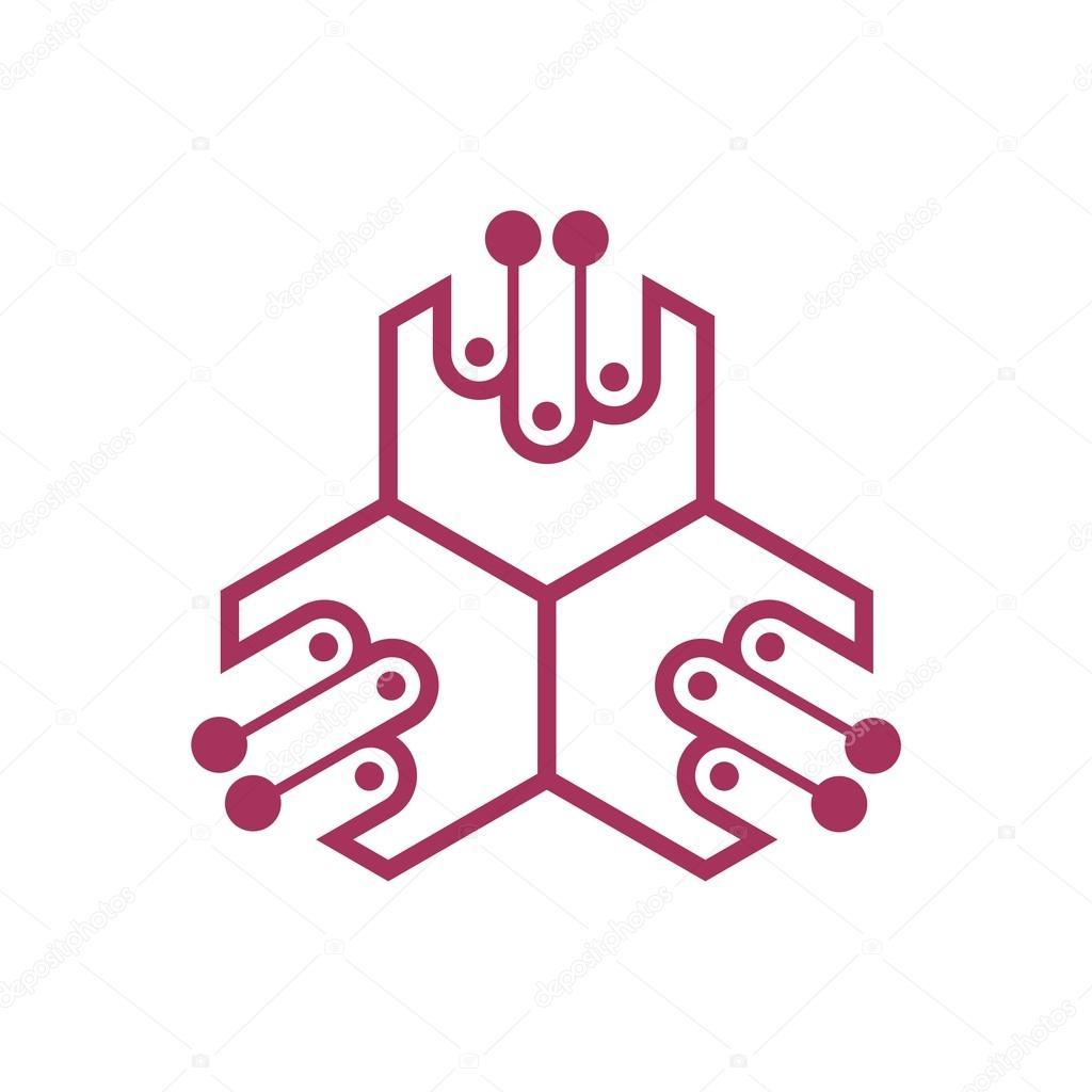 Logo-Strom-Power-Symbol Dreieck Spannung Vektor — Stockvektor ...
