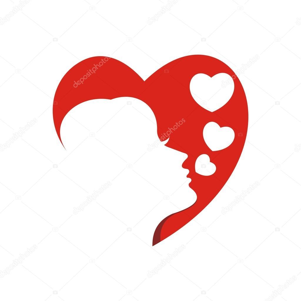 Logo Design Face Of Love Symbol Icon Stock Vector Friendesigns