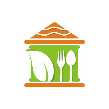 Logo food cutlery design vector