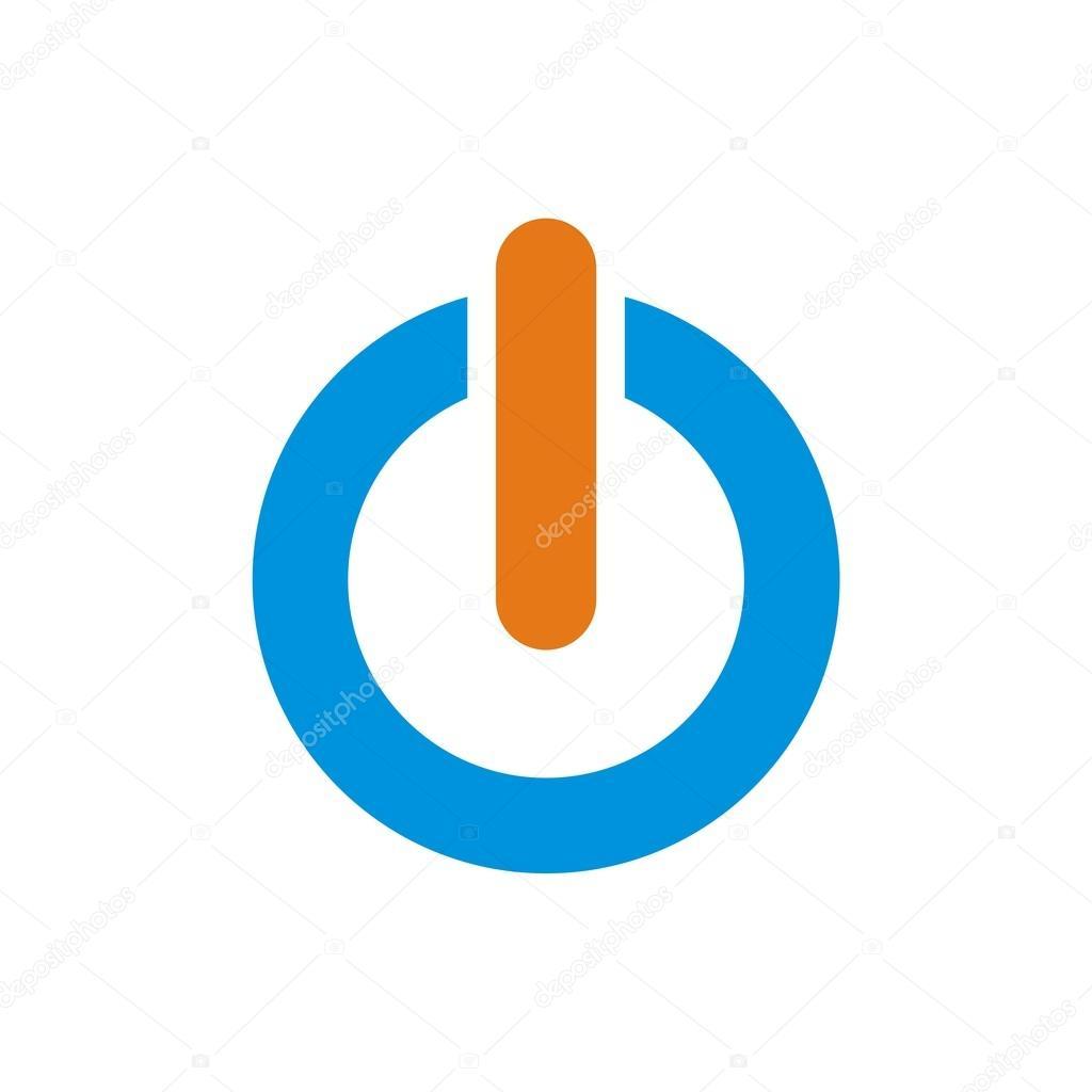 Logo Power Icon Turn On Off Symbol Vector Stock Vector