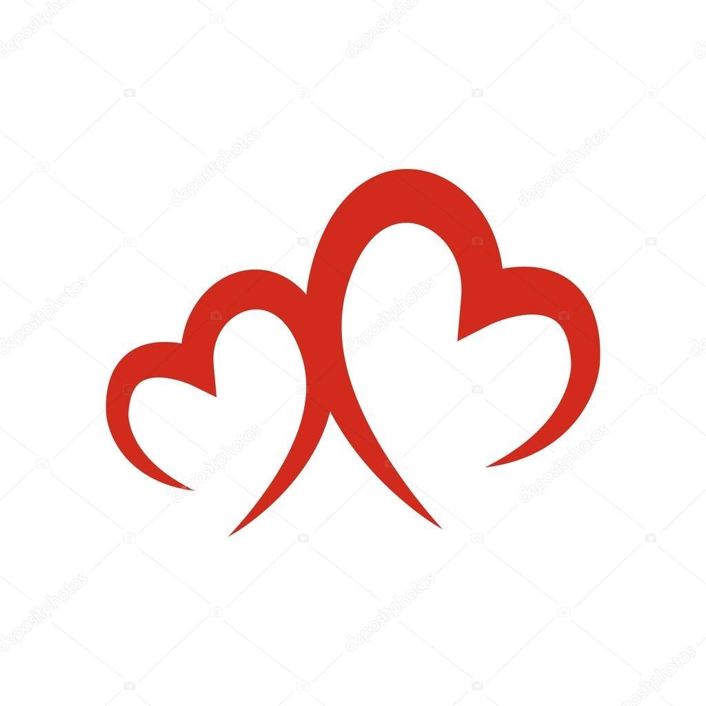 912628882 Design logo love couple icon symbol vector– stock illustration