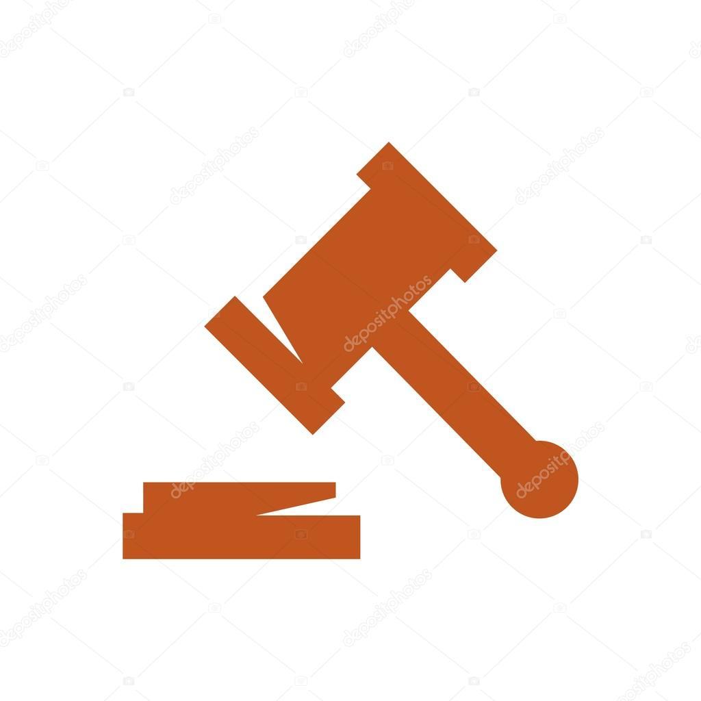 logo design judge hammer icon symbol law firm u2014 stock vector