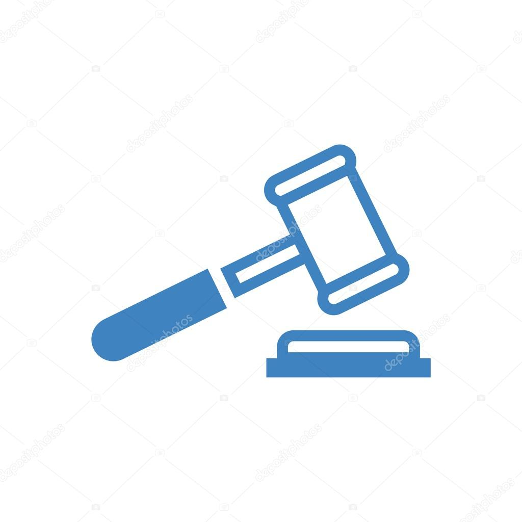 Logo design judge hammer icon symbol law firm — Stock ...