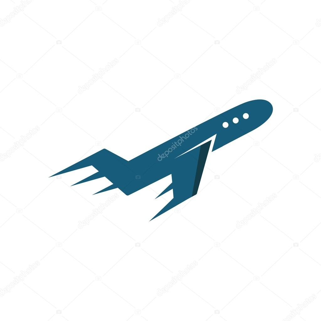 Logo Design Airplane Traveling Symbol Vector Stock Vector C Friendesigns 112842256