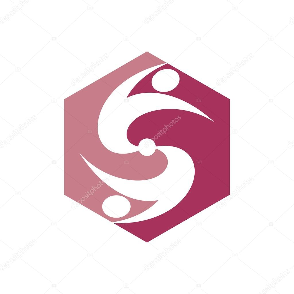 Logo Liefde Mensen Hart Business Creatieve Vector
