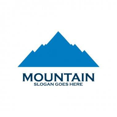 Logo design mountain symbol landscape icon vector