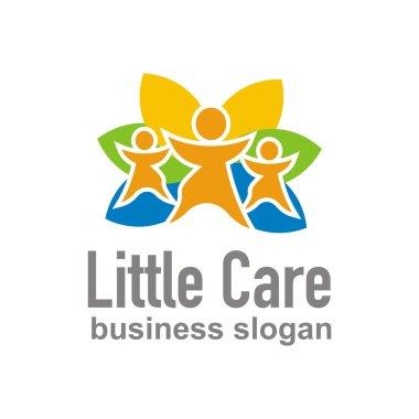 little care logo design children