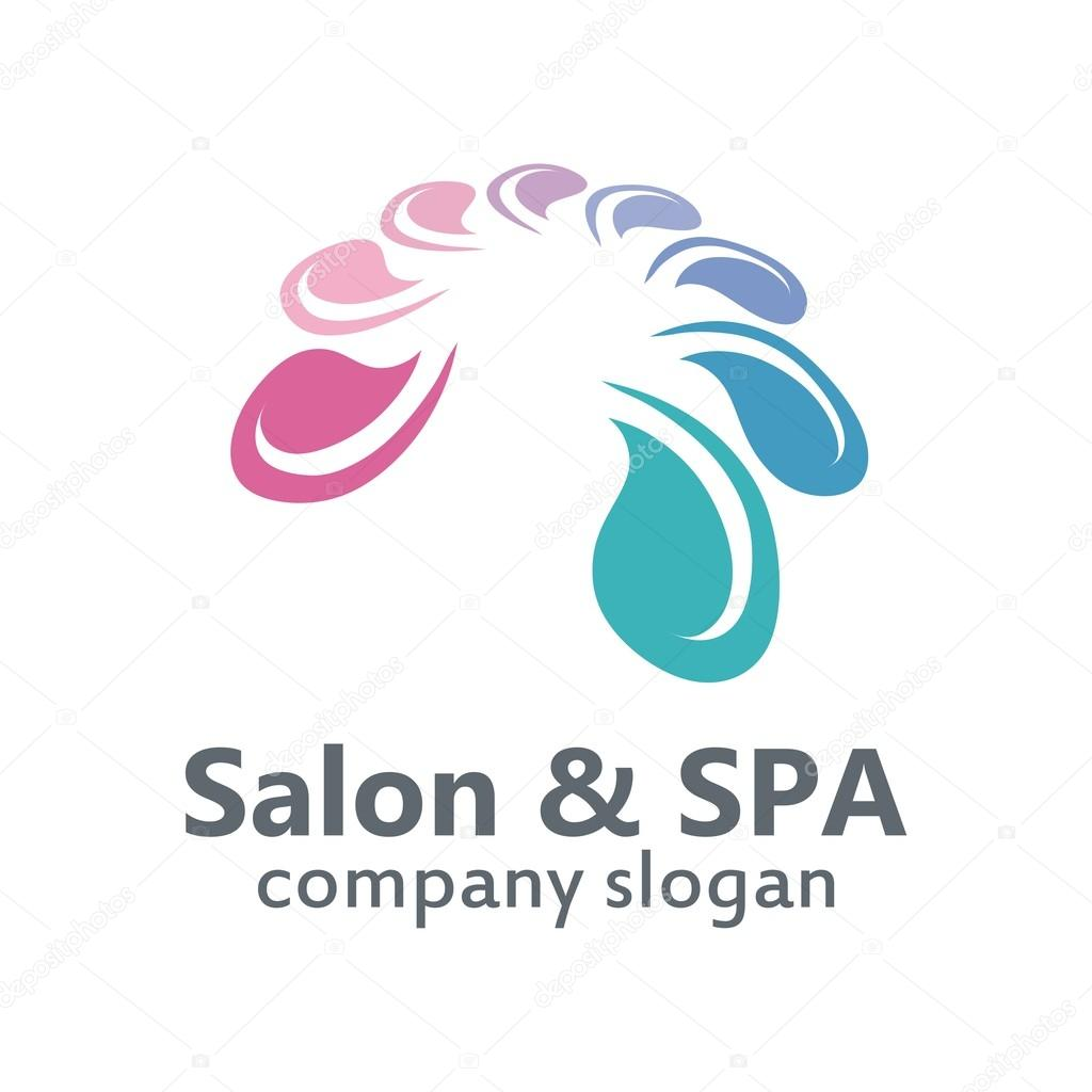 Logo Salon & Spa organic body skin care relaxation — Stock