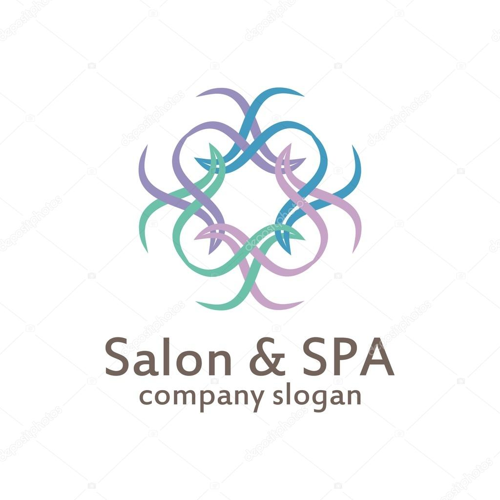 Logo Salon & Spa organic body skin care relaxation — Stock Vector