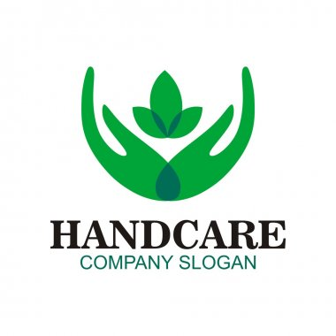 Hand care symbol logo  soap hand sanitizer natural healthy