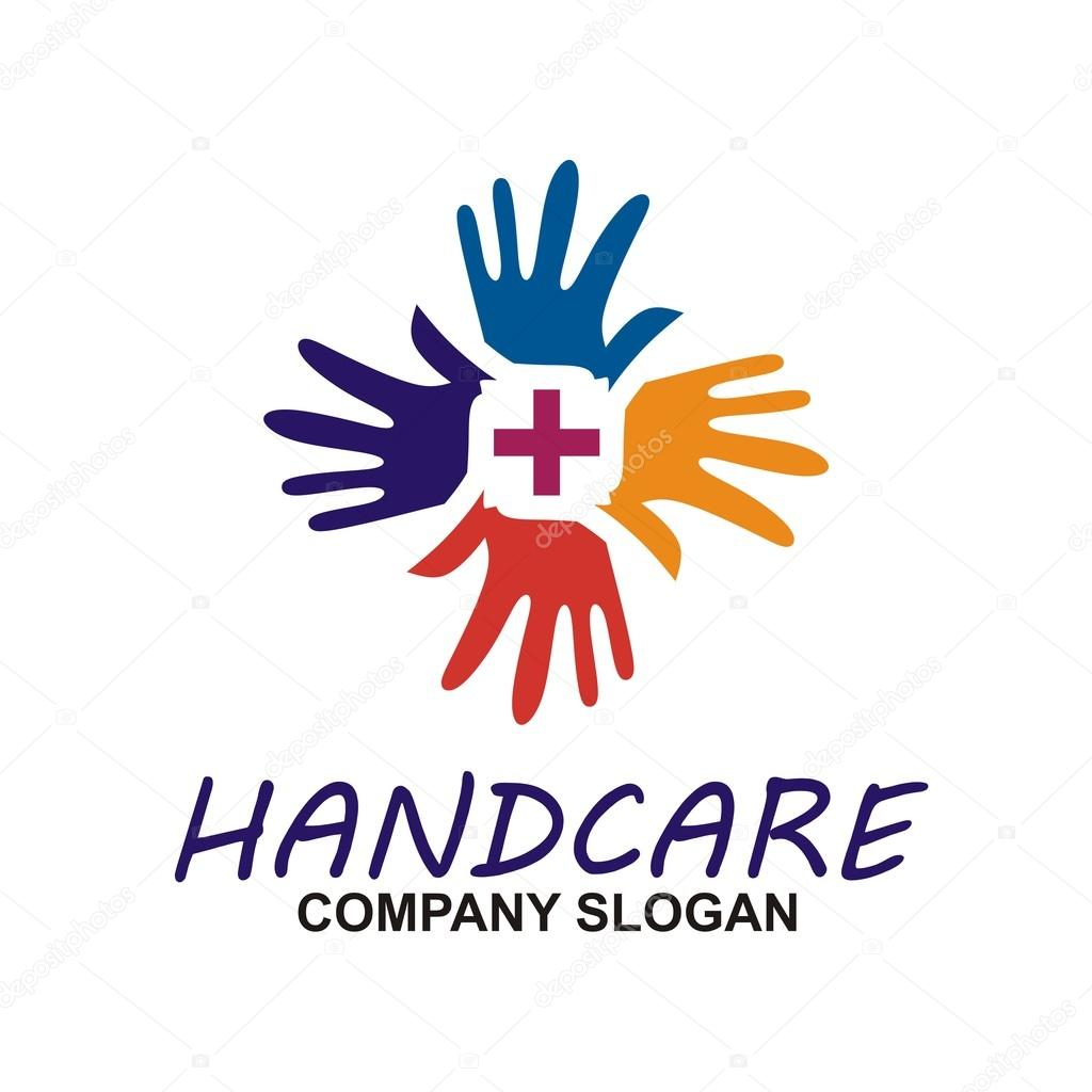 Hand care symbol logo  soap hand sanitizer natural healthy