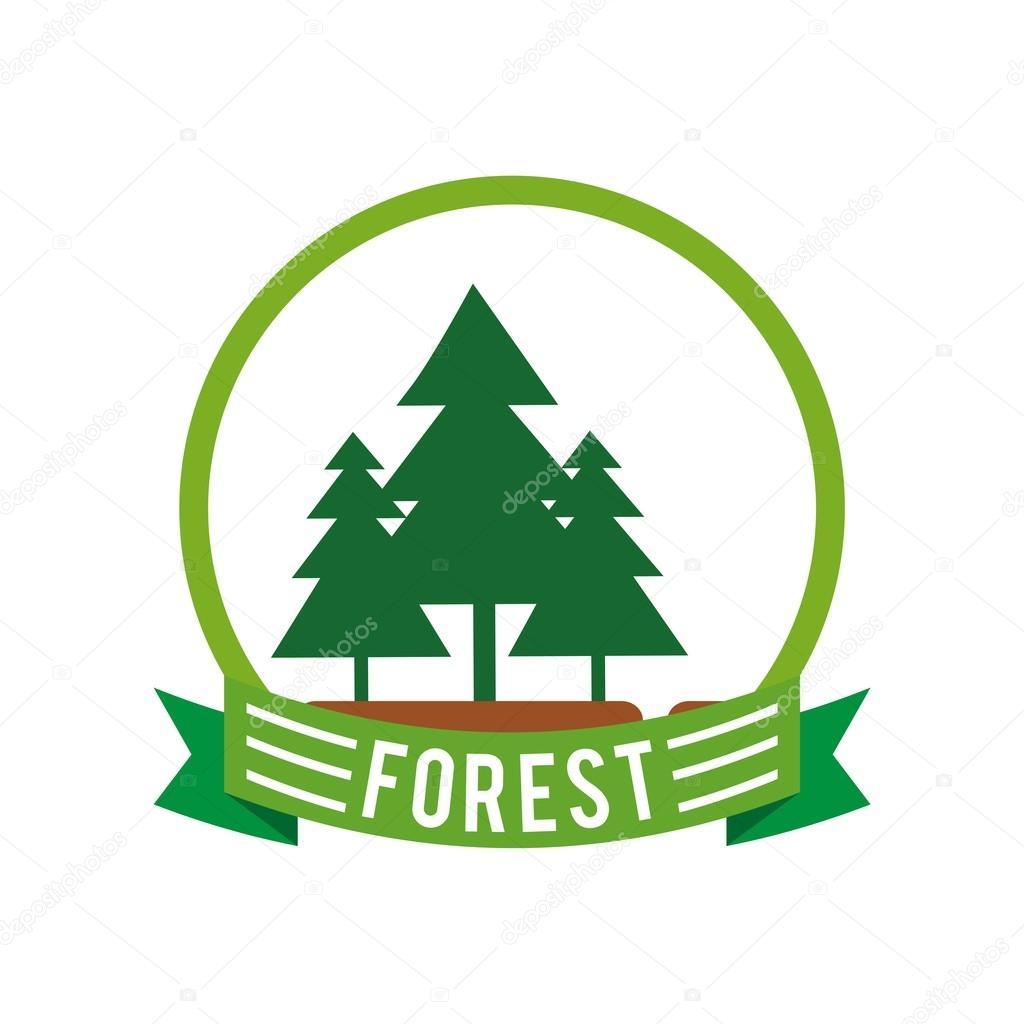 Logo del bosque y del árbol de pino verde vector — Vector de stock ... | {Pino logo 66}