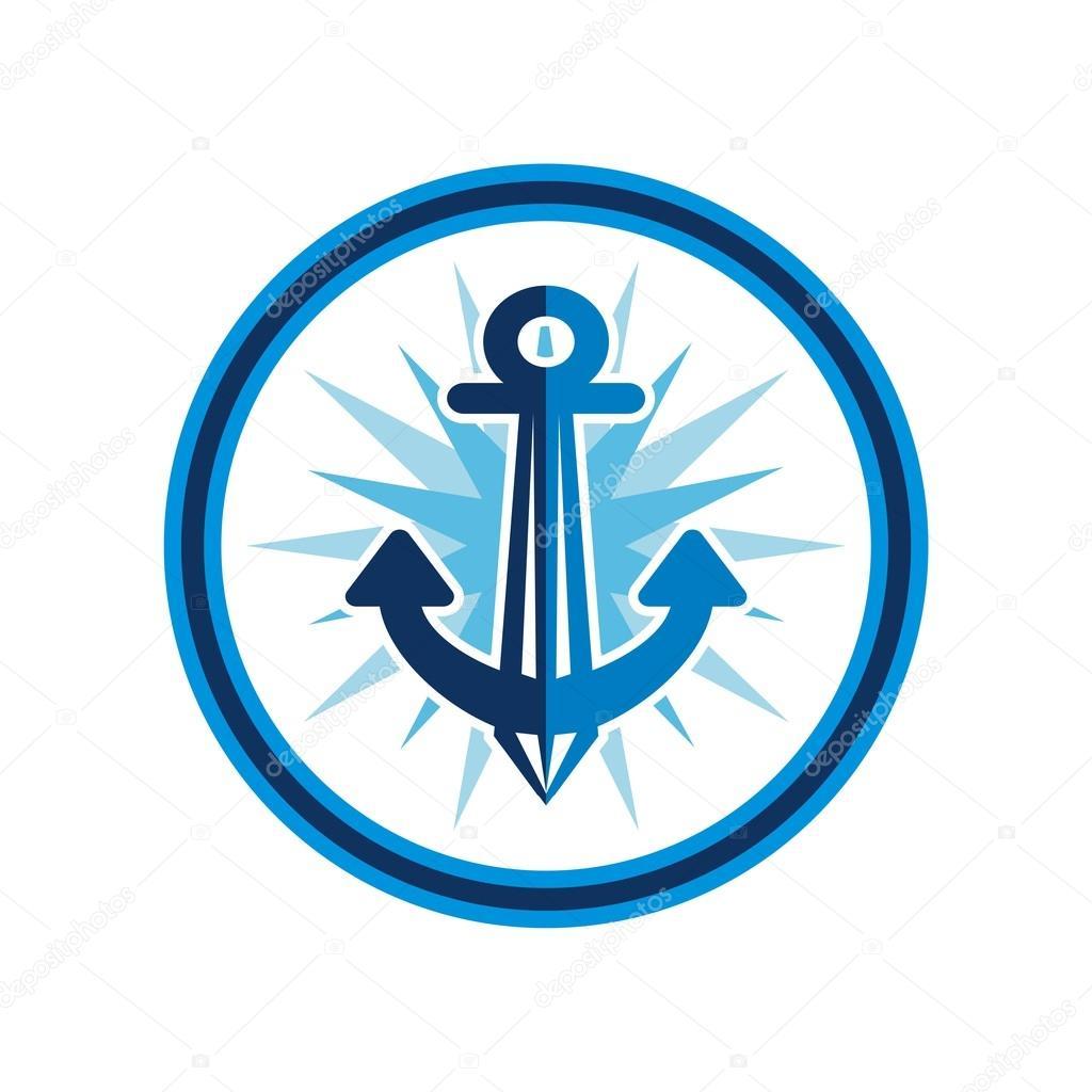 Anchor Marinheiro Logotipo Projeto Vector Vetores De