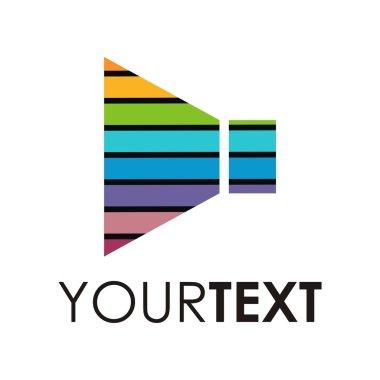 Music logo design symbol