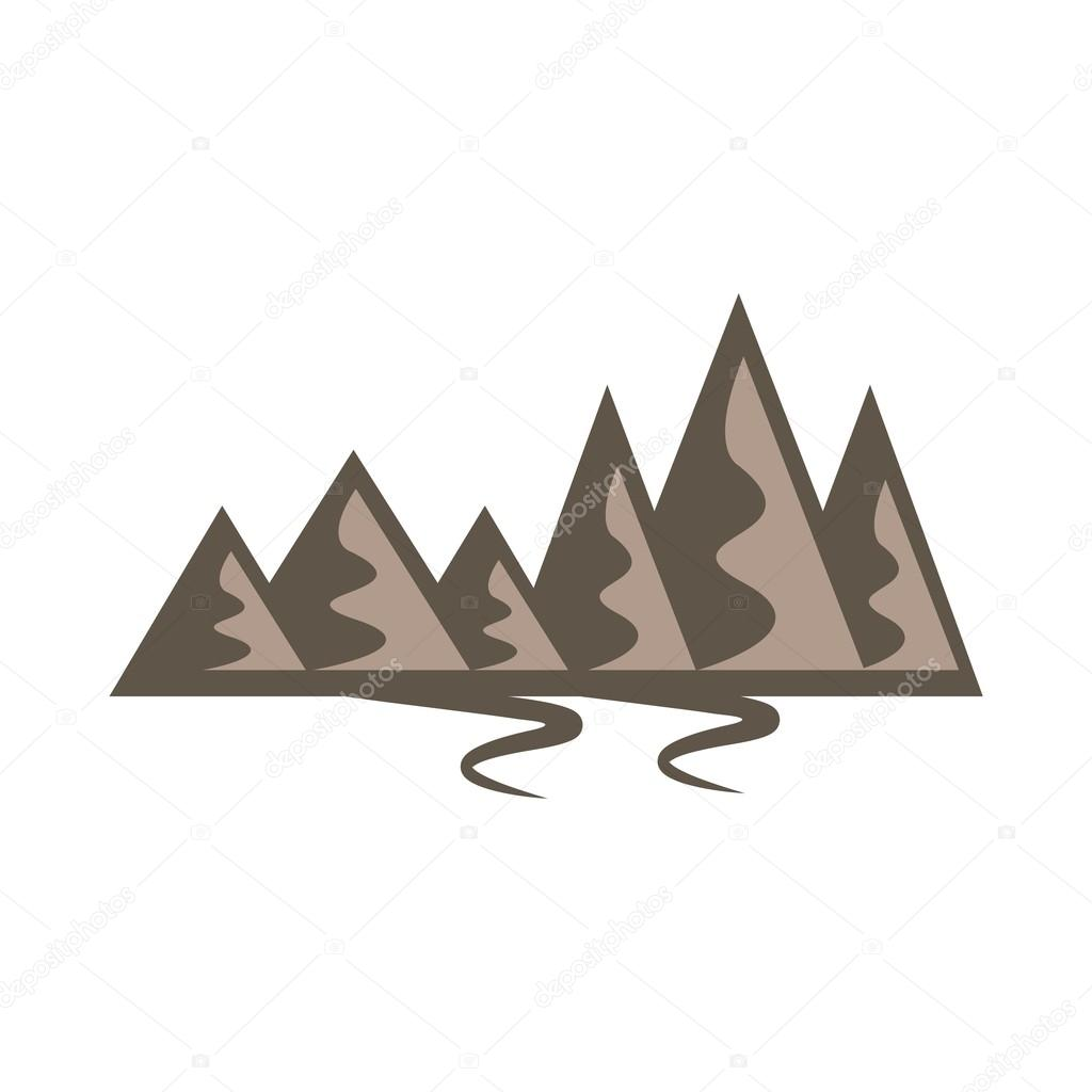 mountain logo landscape symbol icon vector stock vector. Black Bedroom Furniture Sets. Home Design Ideas