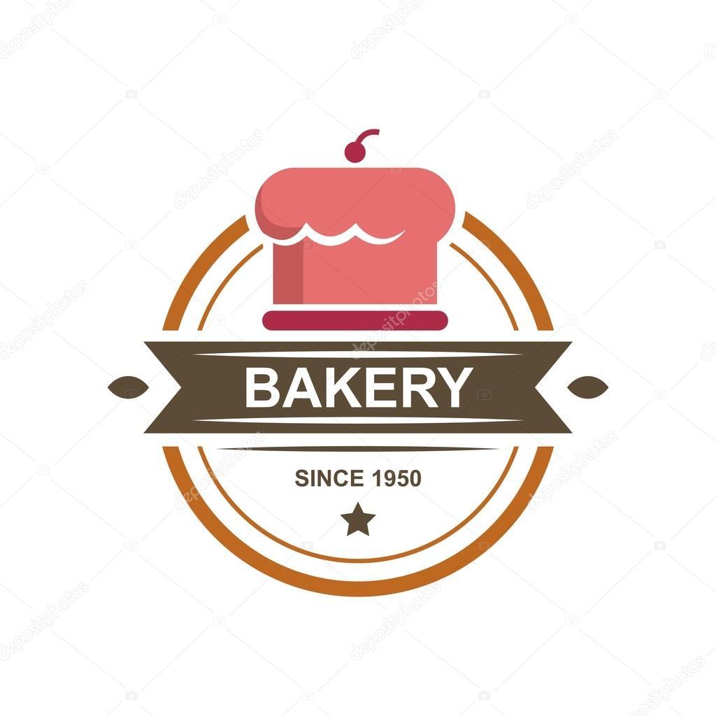 Birthday Cake Logo Symbol Vector