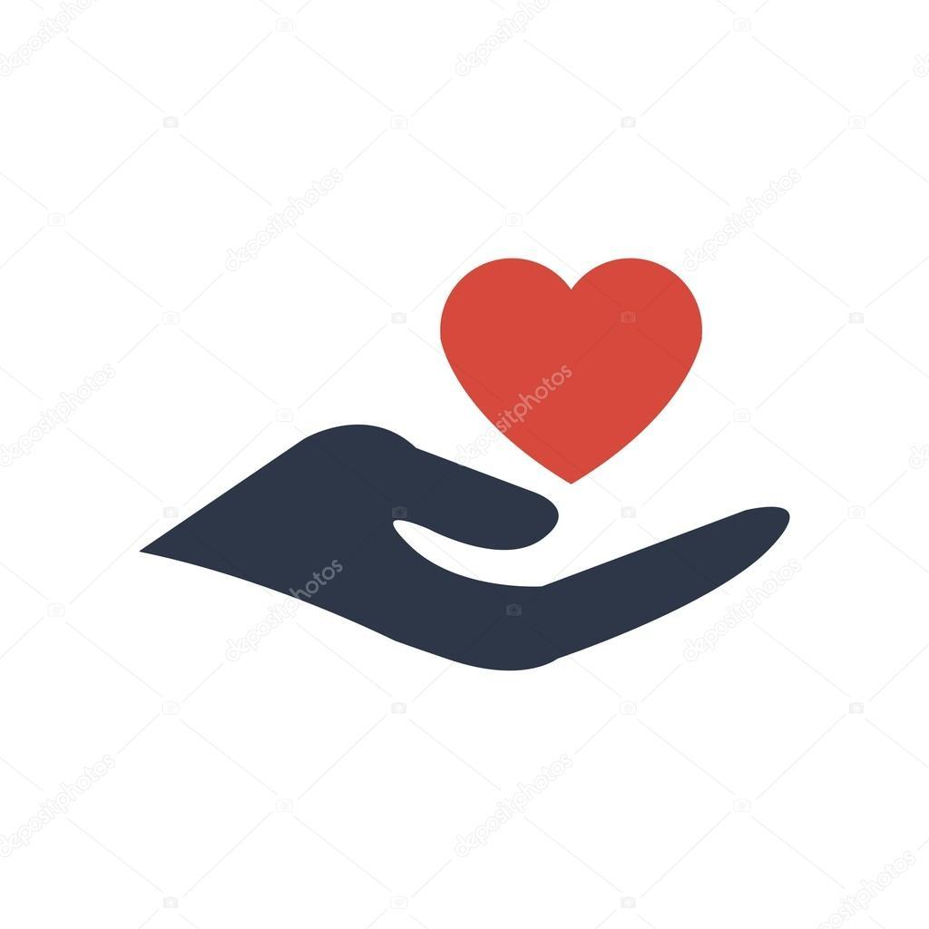 Design Handcare logo icon vector