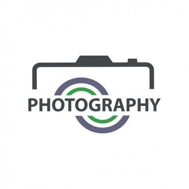 Design logo photography icon vector