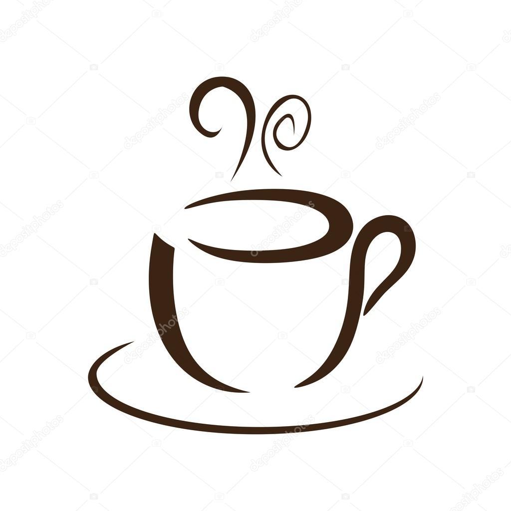 Vetor de ícone do logotipo café — Vetores de Stock ...