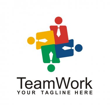 Teamwork logo design icon vector
