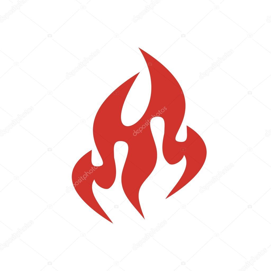 Design logo red fire flame icon symbol vector clipart vector