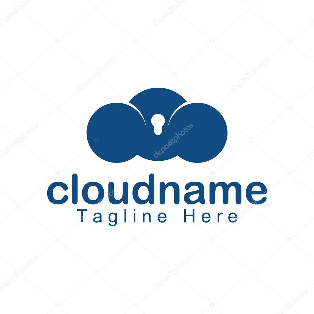 Cloud logo icon vector