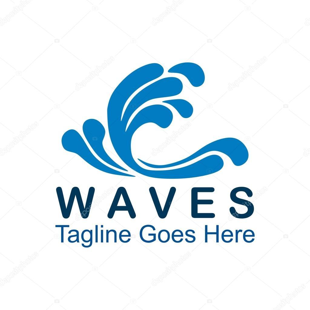sea waves logo stock vector friendesigns 119267508 rh depositphotos com wave logo black wave logos on pinterest