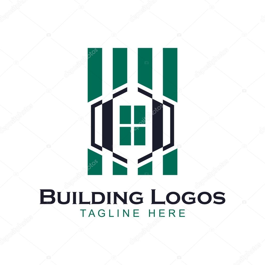 design building apartment logo � stock vector