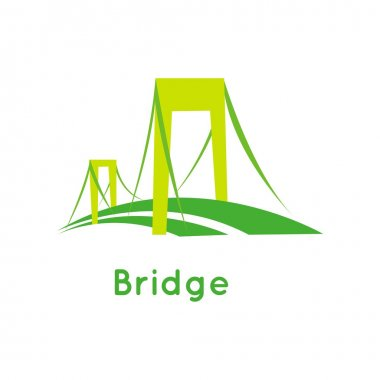 Bridge vector logo icon