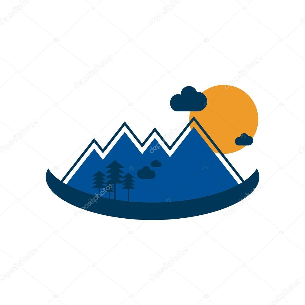 Holiday logo landscape vector
