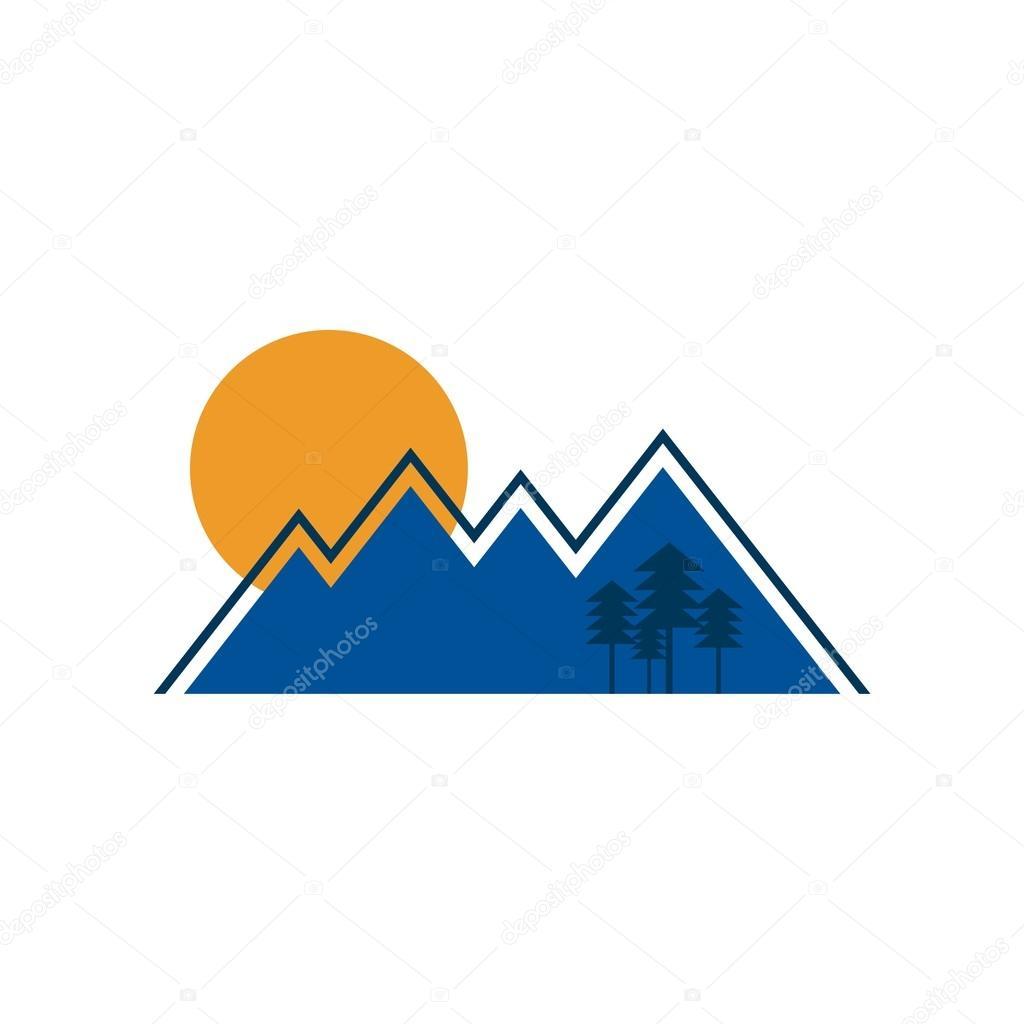 Holiday logo landscape vector