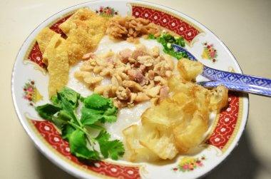 Bowl of chicken porridge
