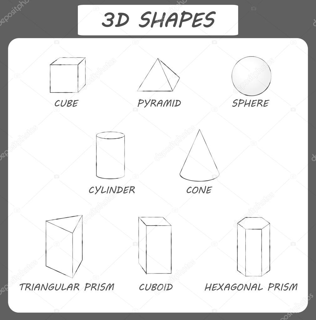 Fabulous formes géométriques de base avec des légendes — Image vectorielle  FW16