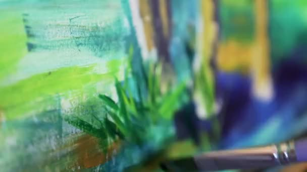 umělec barvy štětcem