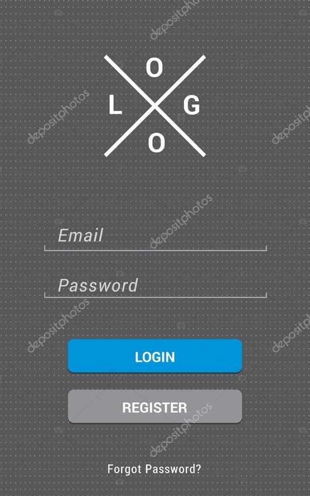Mobile app login screen modern and clean design in vector vetor mobile app login screen modern and clean design in vector vetor de stock ccuart Gallery
