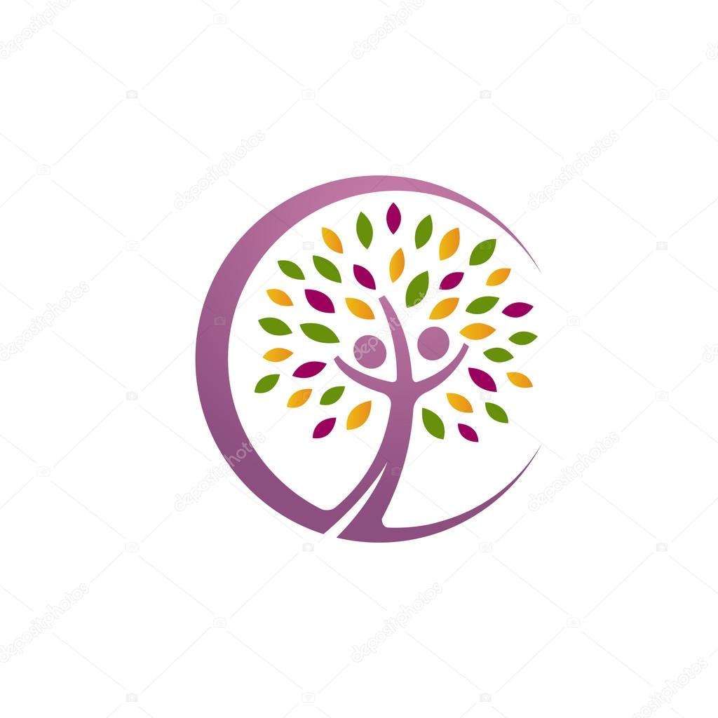Vector Pink Tree Letter C