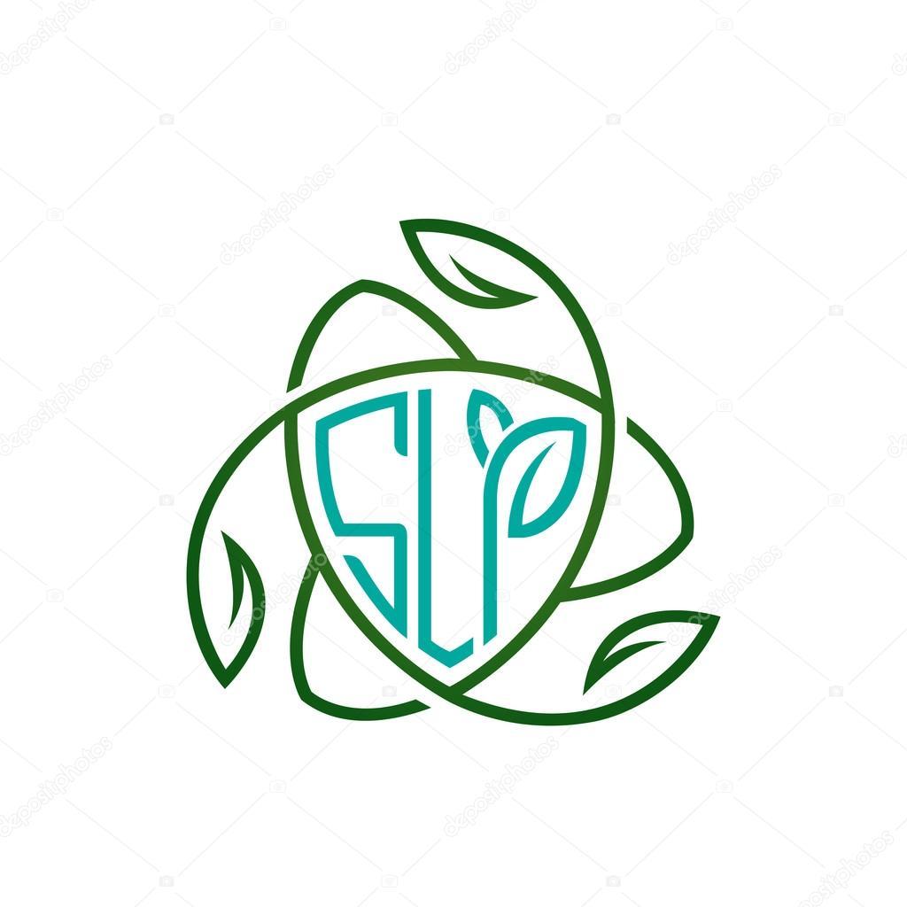Vector Aqua Shield Letter Concept