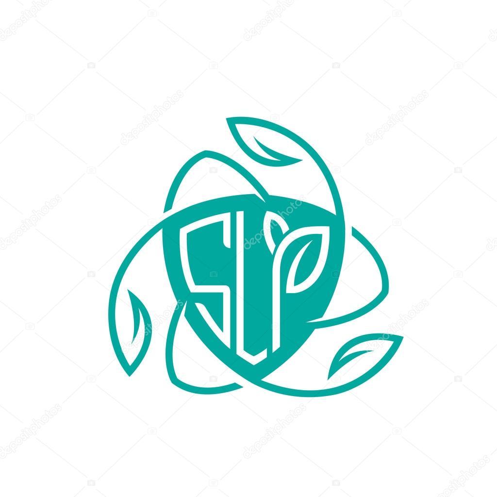 Vector Aqua Shield Letter Natural