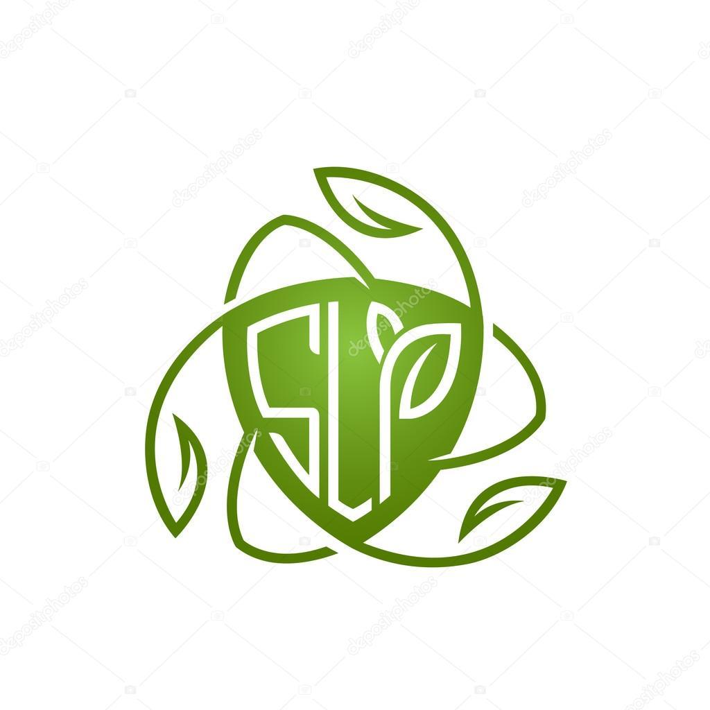 Vector Green Shield Letter Natural