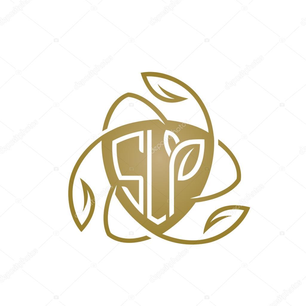 Vector Golden Shield Letter Natural