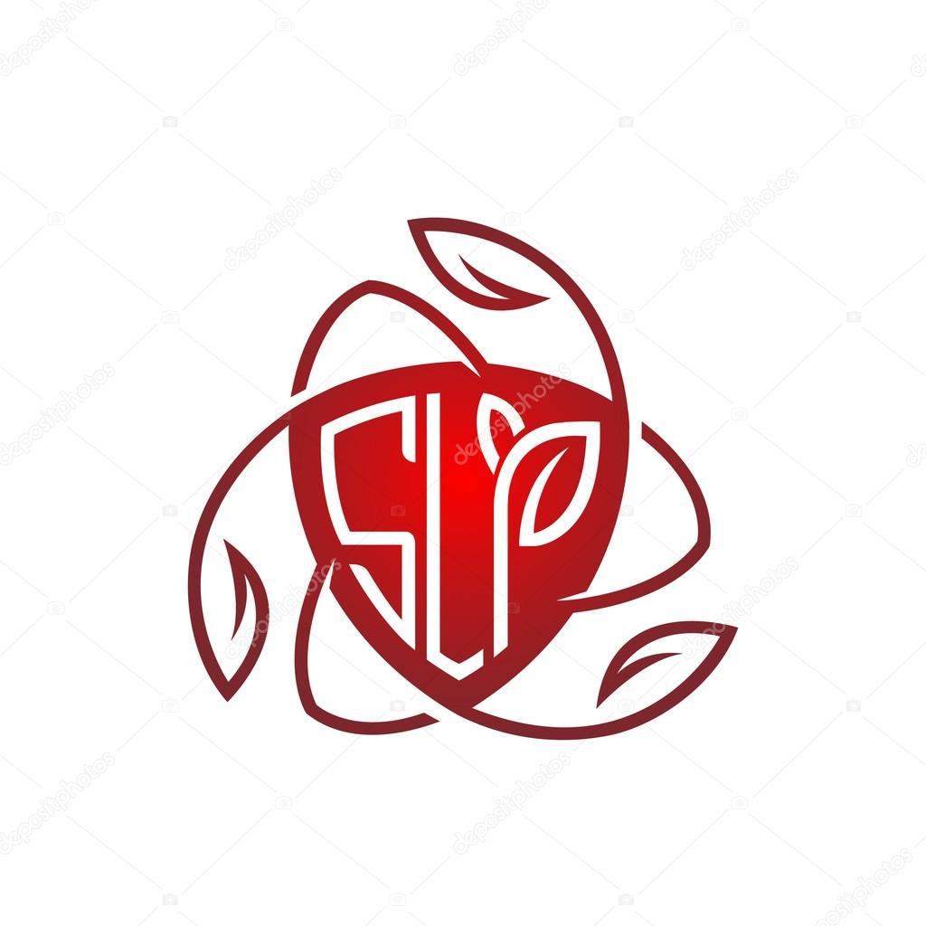 Vector Red Shield Letter Natural