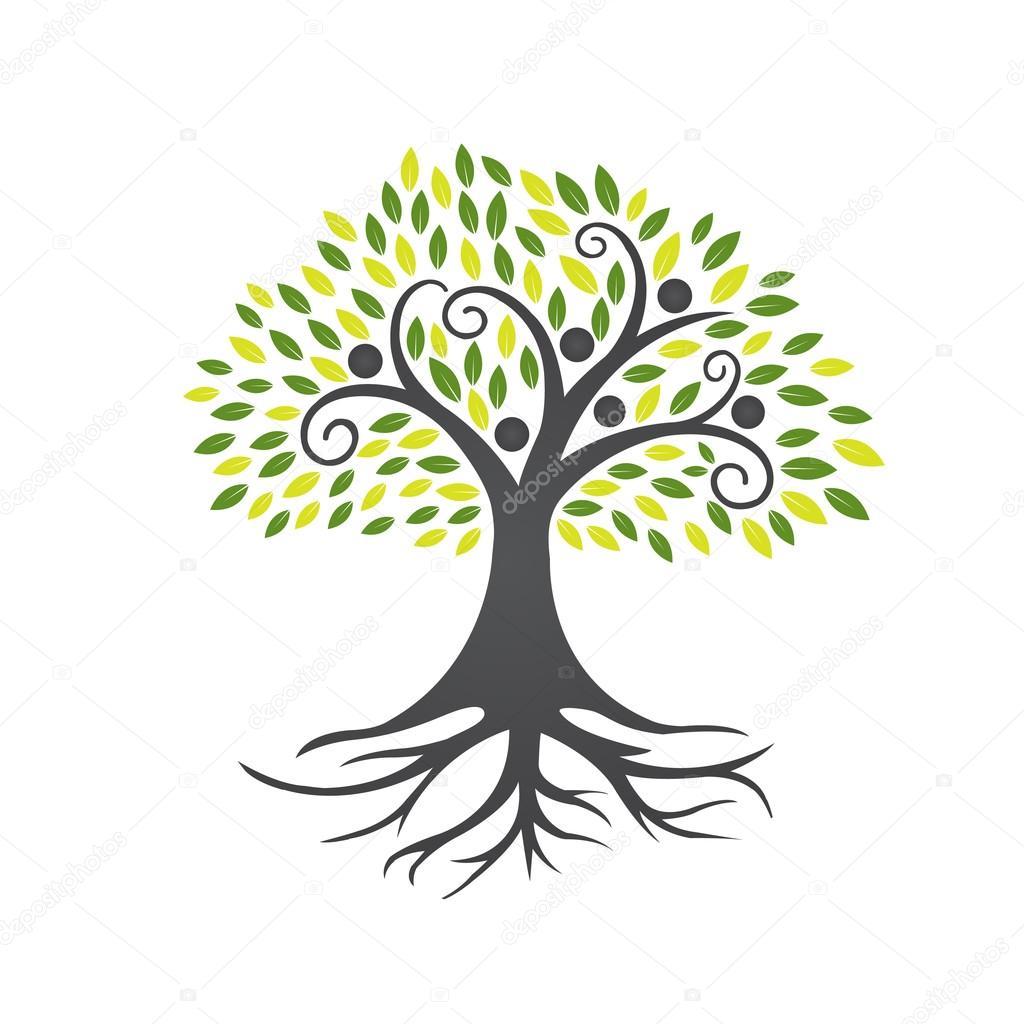 Vector Black People Tree Community