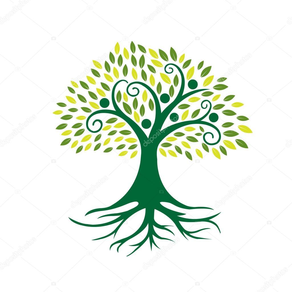 Vector Green People Tree Community