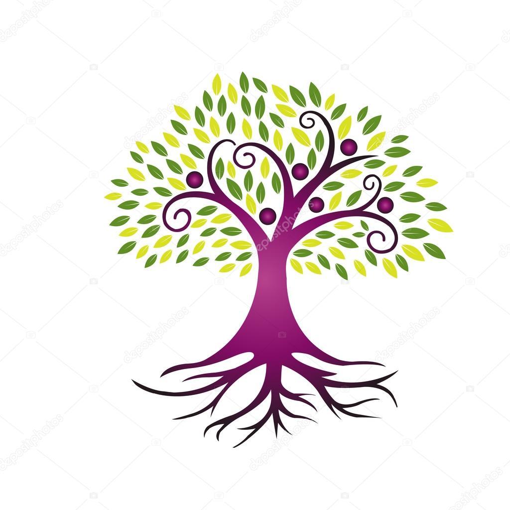 Vector Purple People Tree Community