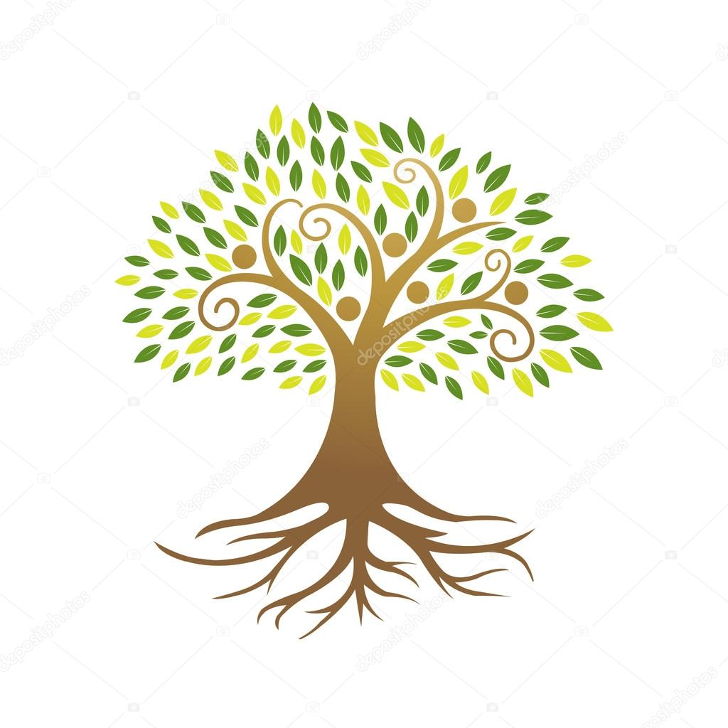 Vector Golden People Tree Community
