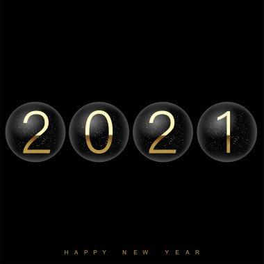 2021 Happy New Year elegant design. Vector. icon