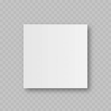 Realistic white blank package cardboard box in front view. Vector illustration. icon