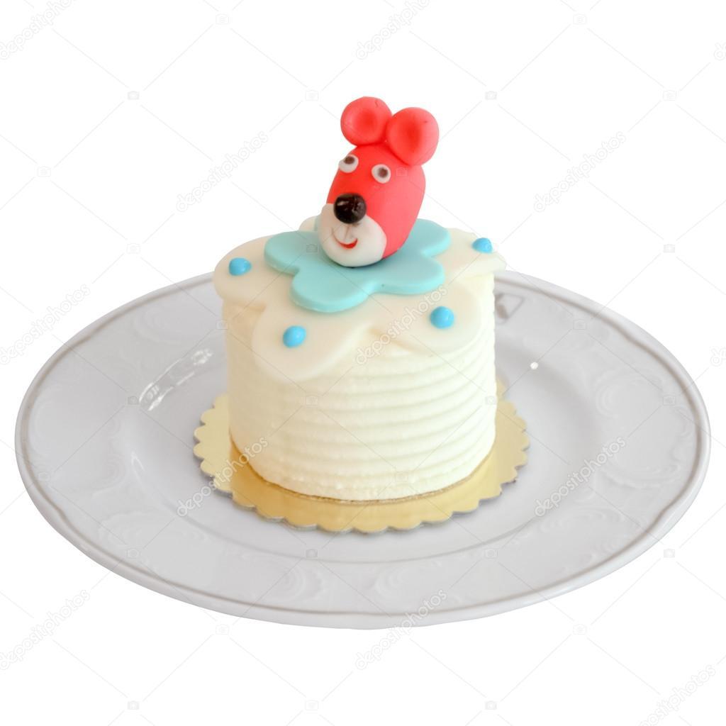 Cake Decorating Animal Figures Mini Birthday Celebration Cake Decorated With Animal Figures For