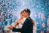 First wedding dance of newlyweds