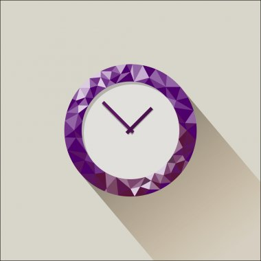 Low poly flat clock
